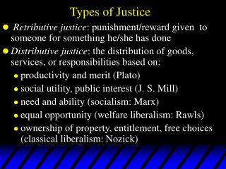 Types of Justice