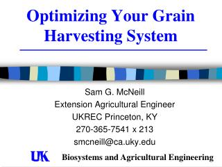 Optimizing Your Grain Harvesting System