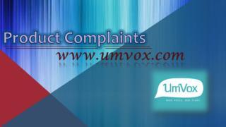 Product Complaints