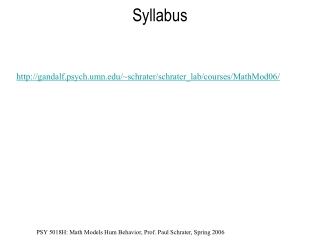 Overview of the Mathematics K 6 Syllabus