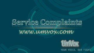 Service Complaints