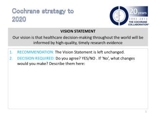 Cochrane strategy to 2020