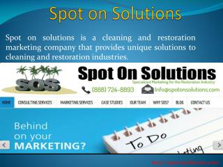 Disaster Restoration Web Design