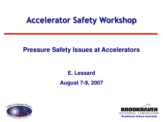 Accelerator Safety Workshop