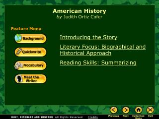 American History by  Judith Ortiz Cofer