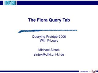 The Flora Query Tab