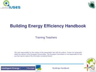 Building Energy Efficiency Handbook