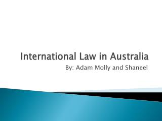 International Law in Australia