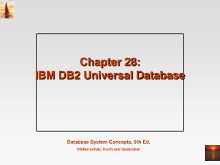 Chapter 28:  IBM DB2 Universal Database