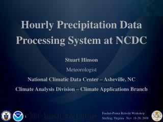 Hourly Precipitation Data
