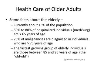 Health Care of Older Adults