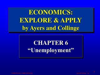 "CHAPTER 6 ""Unemployment"""