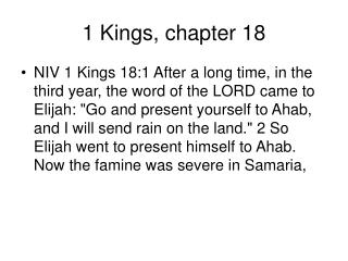 1 Kings, chapter 18