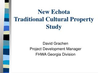 New Echota Traditional Cultural Property Study