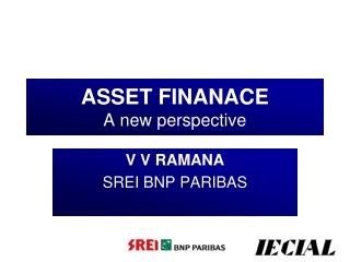 ASSET FINANACE A new perspective