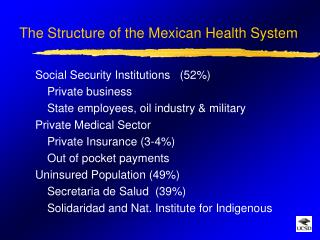 The Structure of the Mexican Health System