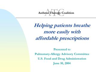 Asthma Therapy Coalition