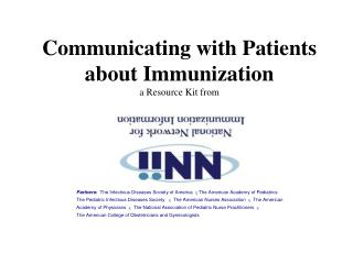 Communicating with Patients about Immunization a Resource Kit from