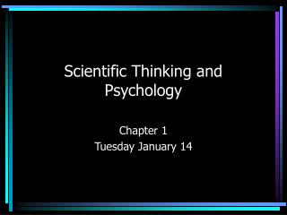 Scientific Thinking and Psychology