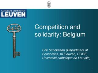 Competition and solidarity: Belgium