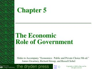 The Economic Role of Government