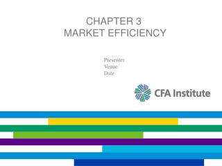 Chapter 3  Market Efficiency