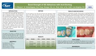 Bond Strength of SE Adhesives with Acid Etching