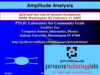 Amplitude Analysis