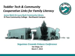 Toddler Tech & Community  Cooperative Links for Family Literacy