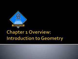 Chapter 1 Overview:  Introduction to Geometry