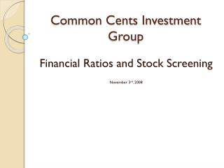 Common Cents Investment Group