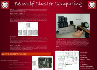 Beowulf Cluster Computing