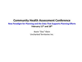 Community Health Assessment Conference