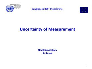 Uncertainty of Measurement Nihal Gunasekara Sri Lanka