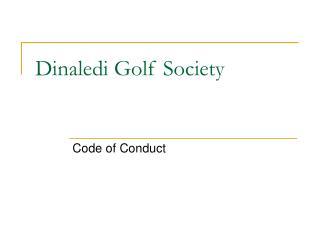 Dinaledi Golf Society