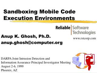 Sandboxing Mobile Code Execution Environments