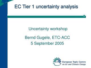 EC Tier 1 uncertainty analysis