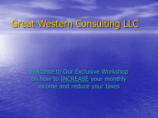 Great Western Consulting LLC