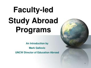 Faculty-led  Study Abroad Programs