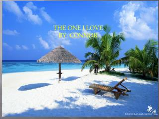 THE ONE I LOVE BY : CONNOR