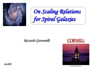 On Scaling Relations  for Spiral Galaxies