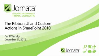 The Ribbon UI and Custom Actions in SharePoint 2010
