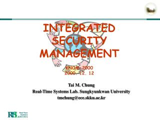 INTEGRATED SECURITY MANAGEMENT KNOM-2000 2000. 12. 12
