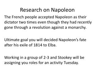 Research on Napoleon