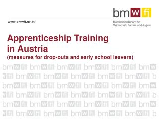 Apprenticeship Training  in Austria (measures for drop-outs and early school leavers)