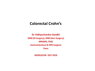 Surgical Approach to Perianal                     Crohn s Disease