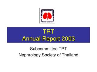 TRT Annual Report 2003