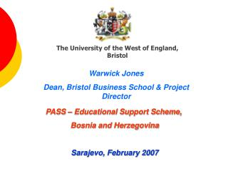 The University of the West of England, Bristol