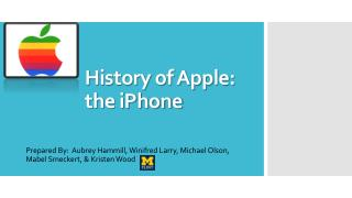 History  of  Apple:  the iPhone
