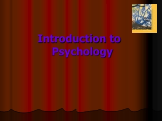 Contemporary psychology Introduction